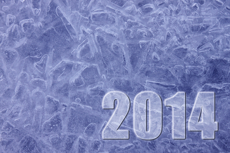 Happy New Year 2014 ice background photo