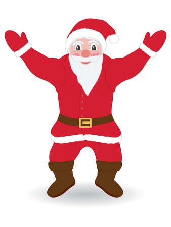 happy Santa Claus over white background Vector