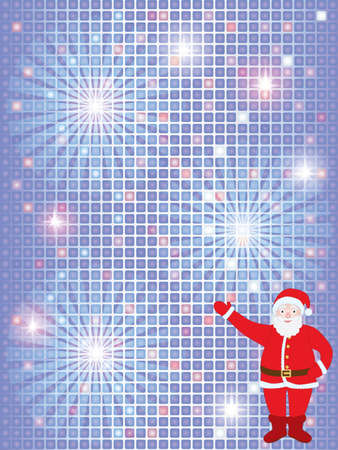 abstract Christmas background with Santa Claus Vector