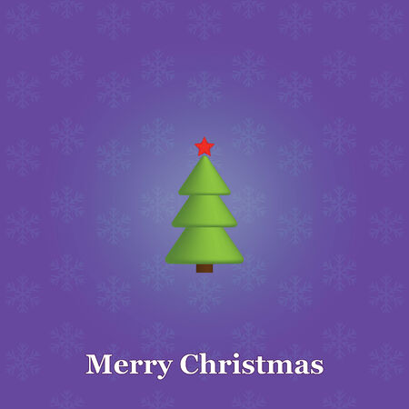 blue Merry Christmas background with Xmas tree Vector