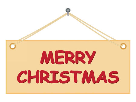 notice board with Merry Christmas congratulation Vector