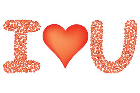 i love you sign: I love you sign over white Illustration