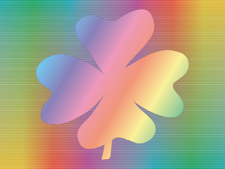 fourleaf: four-leaf shamrock over spectrum