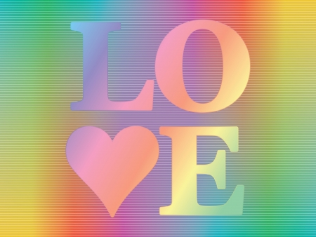 word love over spectrum background Vector