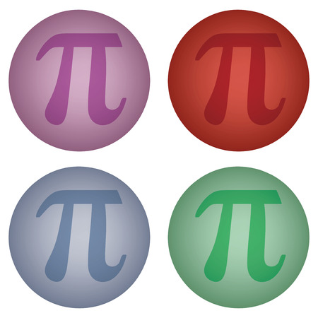 sign of number pi on ball Vector