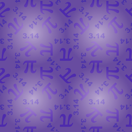 pi: seamless pattern with number pi