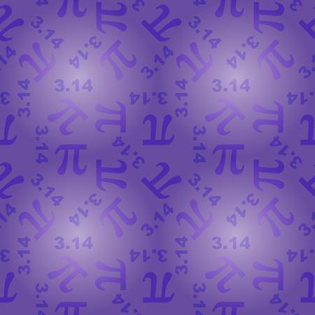 transcendental: seamless pattern with number pi
