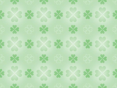 seamless pattern with four leaf shamrock Vector