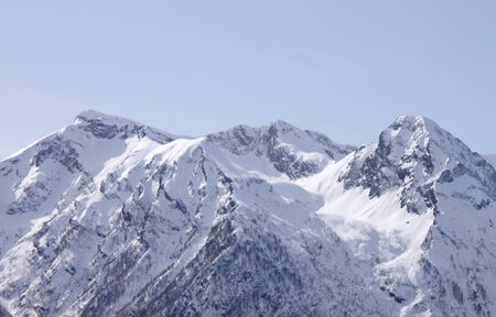 view on Caucasian mountains at winter photo