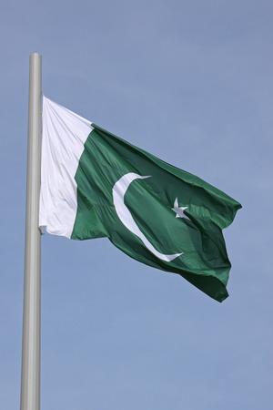flag of Pakistan over blue sky
