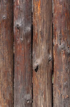 wood log: wooden fence made of logs