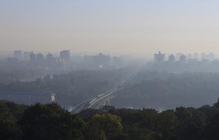 view on Kyiv at morning