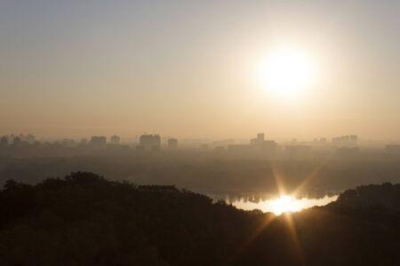 kyiv: view on Kyiv at sunrise
