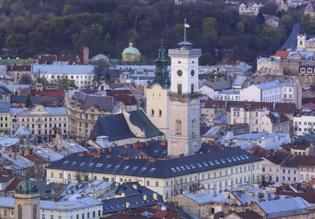 historic district: view on historic district of Lviv