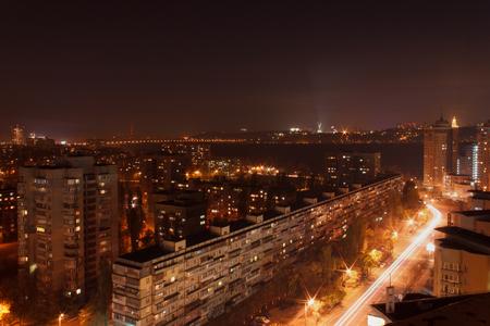 view on Kiev at night