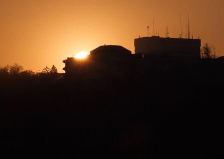 kiev: view on sunset in Kiev