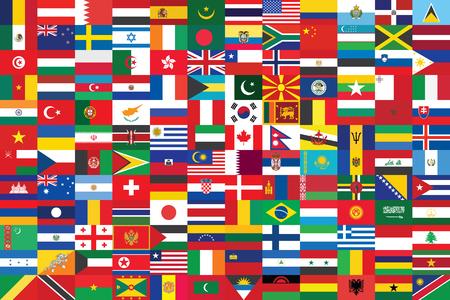 banderas del mundo de fondo ilustración vectorial Ilustración de vector