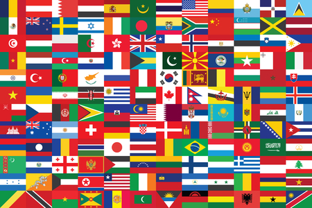world flags: world flags background vector illustration Illustration