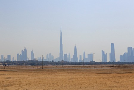 other side: sight of Downtown district in Dubai