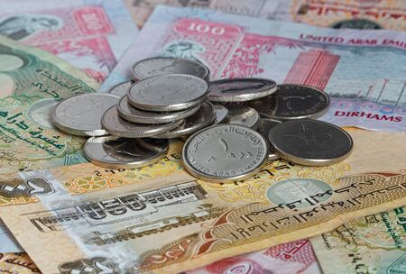 emirates: money of United Arab Emirates: dirhams Stock Photo