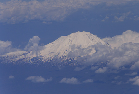 stratovolcano: aerial view on stratovolcano in Iran