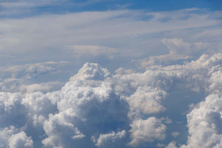 aerial view on clouds