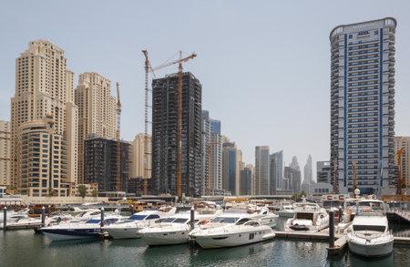 DUBAI, UAE - MAY 11, 2016: sight of Dubai Marina district Editorial