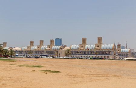 souk: SHARJAH, UAE - MAY 16, 2016: Blue Souk