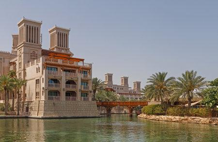 souk: DUBAI, UAE - MAY 14, 2016: hotel at Souk Madinat