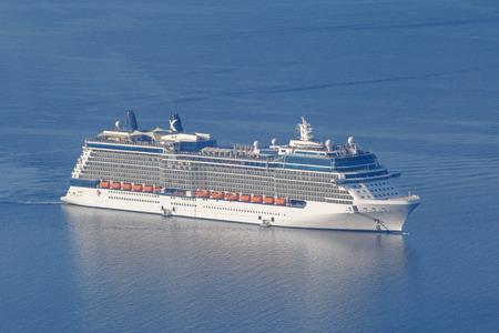 cruise liner: cruise liner in Aegean Sea