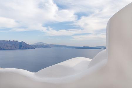 fira: view on caldera of Santorini from Oia