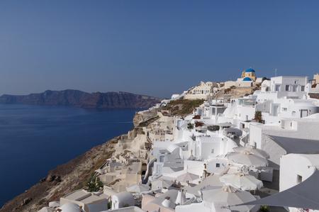 sight of Oia town on Santorini