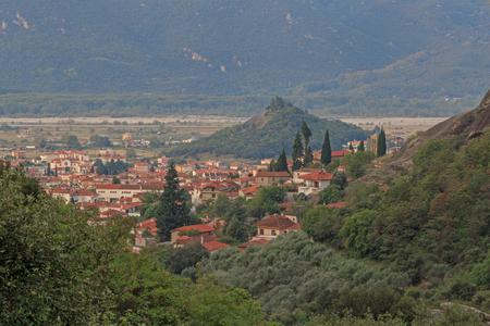 kalabaka: sight of Kalabaka town in Greece