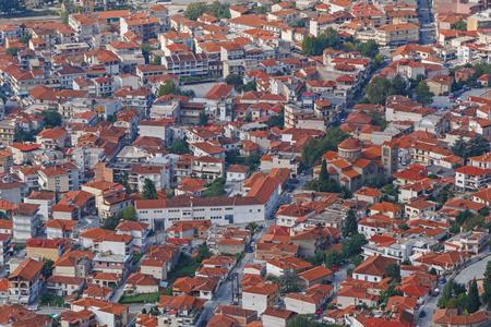 kalabaka: aerial view on Kalabaka town from Meteora, Greece