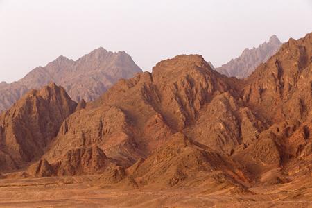 sinai peninsula: mountain range on Sinai Peninsula, Egypt Stock Photo
