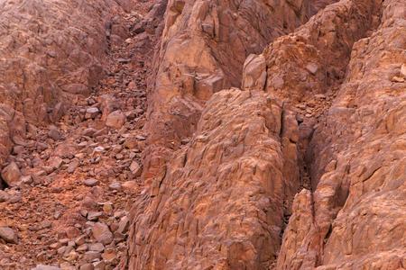 sinai peninsula: landslide on mountain at Sinai peninsula, Egypt