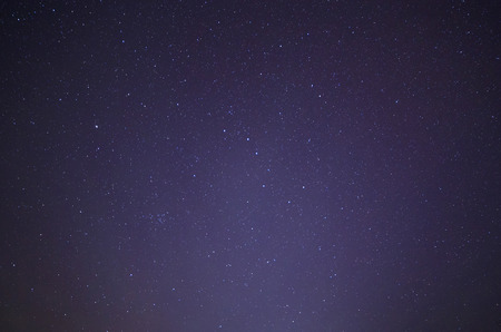 ursa minor: starry night sky with Ursa Major and Ursa Minor constellations