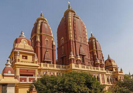 view on Laxminarayan Temple in Delhi, India Stock Photo