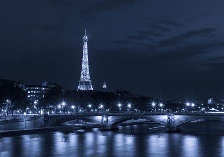 sight of Paris at night