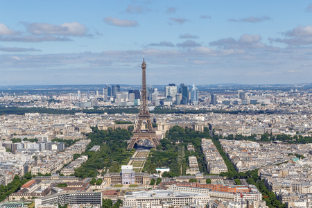 sight of center of Paris with Eiffel Tower, France