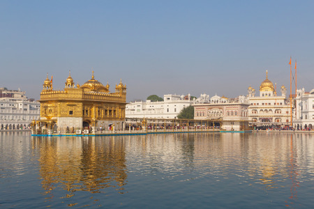 sight of Golden Temple in Amritsar, India Stock Photo