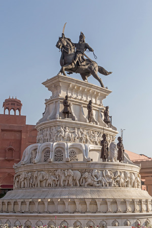 monument to Maharaja Ranjit Singh in Amritsar, India Stock Photo