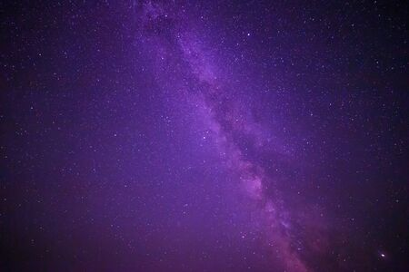 view of Milky Way galaxy in night sky 写真素材
