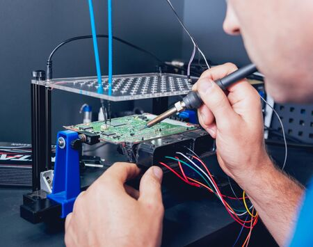 Repair of electronic devices, soldering and circuit board