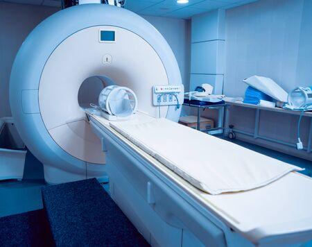 Medical equipment. MRI room in hospital. Background Foto de archivo