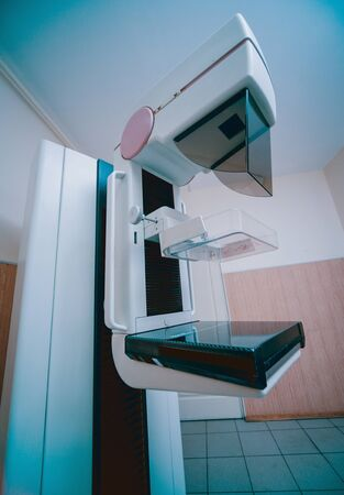 Mammography test at the hospital. Medical equipment Stock Photo
