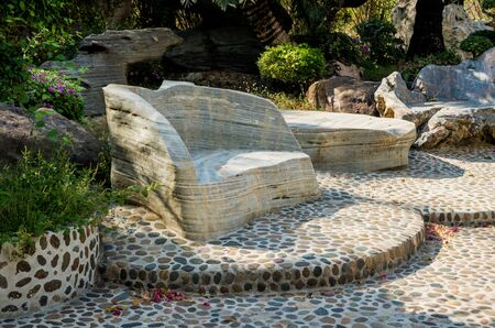 Luxury landscape design of the tropical garden. Standard-Bild