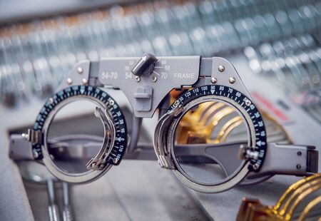 Ophthalmic equipment. Medical laboratory. Modern medical technology. Stock Photo
