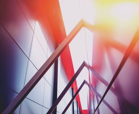 Urban geometry background. Modern architecture sunlight background.