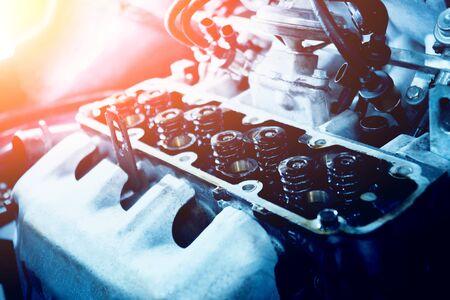 Engine repair. Car service. Auto repair service. Background